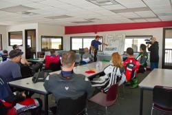 Unterrichtsraum bei Superbike-Coach