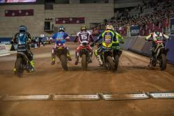 Superprestigio Start in Barcelona, Spanien.
